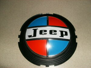Vintage Jeep Wheel Cover Center Badge 1970