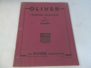 Oliver Model 15 Combine Operating Instructions