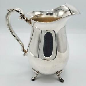 Silver Plated Hoof Footed Water Pitcher