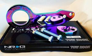 Nrg Rear Tow Hook Kit For Honda Acura Universal Jdm Style neo Chrome
