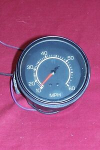 Vintage 0 60 Boat Speedo Speedometer 60 Mph 3 3 25 Old Boating Dash 1970s