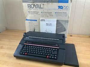 Vintage Royal Tq 720 Portable Electric Typewriter Word Processor W Original Box