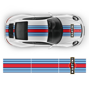 Martini Racing Side Stripes Over The Top For Porsche Carrera Cayman Boxster