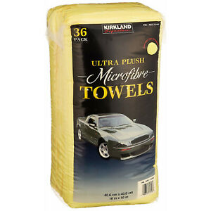 Car Washing Microfiber Towels Vehicle Truck Suv Wash Cleaning Care Plush 36 pack