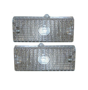 69 70 Chevy C10 Truck Clear Front Lh Rh Grill Turn Signal Lights Park Lamps