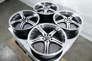 17 Wheels Accord Civic Jetta Corolla Camry Celica Mazda3 Lancer Black Rims