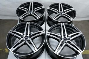 17 Wheels Fit Honda Civic Accord Integra Mini Cooper Vw Jetta Black Rims 4 Lugs