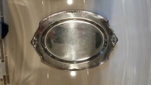 1847 Rogers Bros Eternally Yours Pattern Silver Plate Butlers Serving Tray
