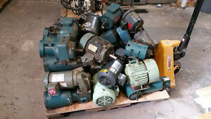 3 Phase Electric Motors one Pallet