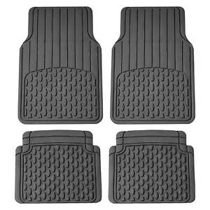 Heavy Duty Car Floor Mats For Sedan Suv Van Truck Rubber Mats Gray