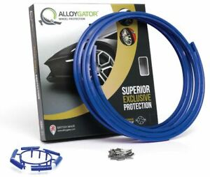 Set Of 4 blue Alloygator Wheel Protector Protection Fits 12 To 24 Rims