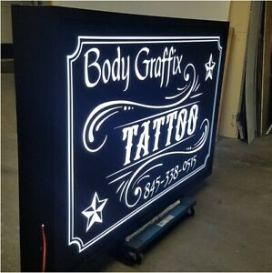 Double Sided Outdoor Led Light Box Sign 48 X 96 X 7