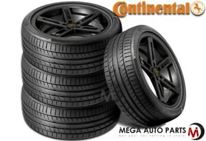 4 Continental Contisportcontact 5 225 50r17 94w Max Performance Summer Tires