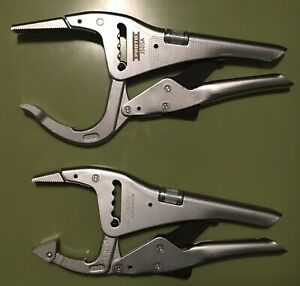 New Facom Proto 2pc Locking Grip Pliers Set Made In France Large Jaw 500 Series