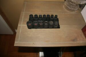 Mac Tools Svpm136brpt 13 Pc 1 2 Drive Metric Impact Socket Set Used A Few Times