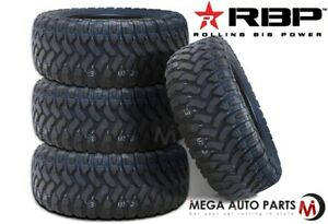 4 Rbp Repulsor M T 33x12 50r24lt 104q 10 Ply All Terrain Mud Truck Tires Mt