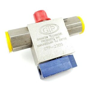 Gammon Gtp 2305 Stainless Steel 3 way Selector Ball Valve 1 4 Fnpt