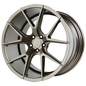 Staggered Verde Axis Front 19x8 5 rear 19x9 5 5x120 15mm Bronze Wheels Rims