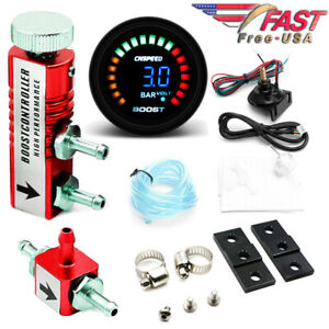 0 3 Bar Manual Boost Controller Kit Red W 52mm Digital Electronic Boost Gauge