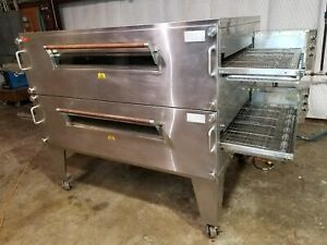 Xlt 3870 Doublestack Natural Gas Pizza Conveyor Ovens video Demo