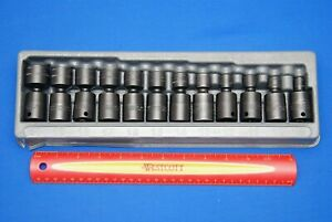 2018 Snap On 12 Pc 3 8 Drive Metric Shallow Impact Swivel Socket Set 212ipfm