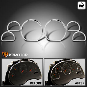 Fits 1994 2004 Ford Mustang Chrome Cluster Dashboard Trims