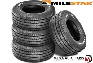 4 Milestar Streetsteel P295 50r15 105s White Letters All Season Muscle Car Tires