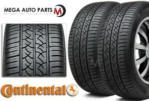 2 Continental Truecontact Tour 215 45r17 87v All Season Tires W 80k Mi Warranty