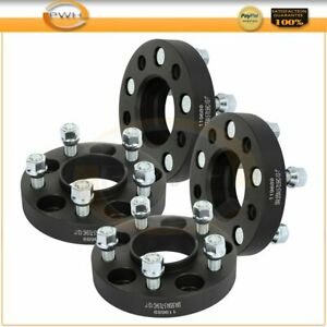 1 Thick 5x4 5 1 2 Studs Black 4 Pcs Wheel Spacers For Ford Mustang Edge Ranger