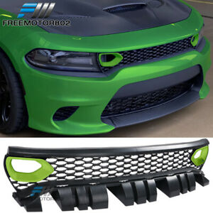 Painted Fits 15 19 Dodge Charger Srt Scat Pack Style Conversion Front Grille