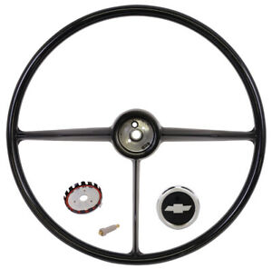 1957 1958 1959 Chevrolet Truck Black Steering Wheel Kit New