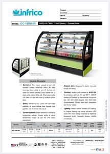 Great Opportunity Cold Display Case Bakery Curved Glass 4 Levels