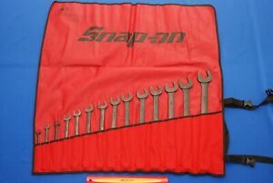 New 2018 Snap On 14 Pc 12 Point Sae Standard Combination Wrench Set Goex714kb
