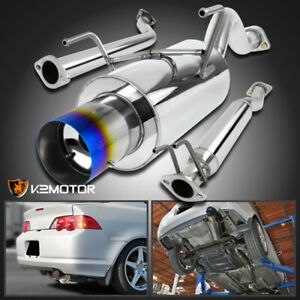For 2002 2006 Acura Rsx Dc5 Type s 2 0l Muffler Exhaust Catback System Burnt Tip