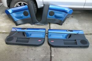 98 10 Vw Beetle Door Panels Blue Gray Coupe Left Right Front And Back Panels