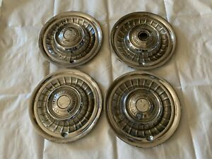 1958 1959 Cadillac Hubcaps Wheel Covers Hub Cap Chrome Eldorado Fleetwood 60