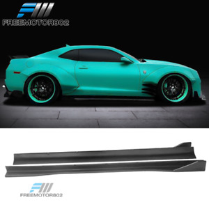 Fits 10 15 Chevy Camaro Zl1 Mb Style Side Skirts Extension Unpainted Pp