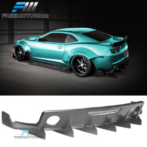 Fits 10 15 Chevy Camaro Zl1 Mb Style Rear Bumper Diffuser Lip Spoiler Pp