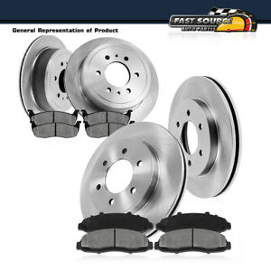 Front Rear Rotors Metallic Pads For Escalade Chevy Silverado Tahoe Gmc Sierra