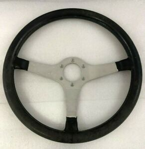 Ferrari 308 Momo Steering Wheel Dark Blue Leather Used P N 107484