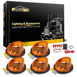 5x1313a Roof Running Cab Marker Light 10 3528 smd W5w Amber Led Bulb wiring Pack