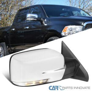 For 09 12 Dodge Ram 1500 Chrome Power Heat Right Side Mirror Led Signal Puddle