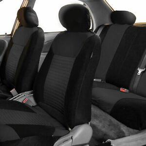 Seat Covers For Car Suv Van Auto Solid Black Full Set For Auto Full Set