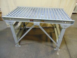 Hytrol Ball Gravity Roller Conveyor Section With Legs