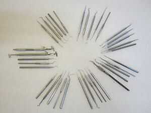 Vintage 35 Pcs Dental Dentist Tools Made In Usa Made In Japan