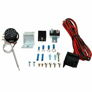 30 Wire Relay Kit Adjustable 12v Electric Radiator Fan Thermostat 3 pin Control