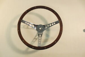 Superior Vintage Real Wood Steering Wheel the 500 15 1 2 Inch Rat Hot Rod