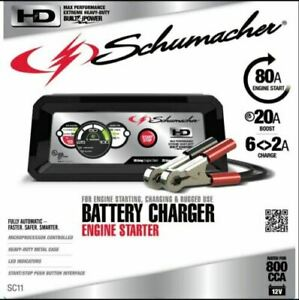 Schumacher Battery Charger 80amp Engine Starter Rugged Use Sc11 20a Boost A T