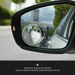 2pcs Auto 360 Wide Angle Blind Spot Mirror Convex Rear Side View Hd Universal