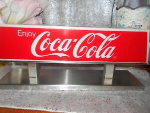 Vintage 1987 Coca-Cola Fountain Topper Light-Up Sign, Works, Excellent condition